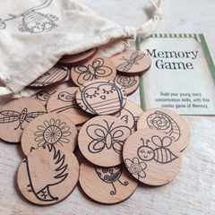 Wooden Memory Matching Game - Woodland Friends Edition