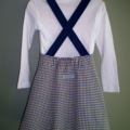 Check Winter Skirt with Straps