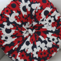 OLD STOCK MUST GO Vintage Style Red White & Blue Floral Round Cushion