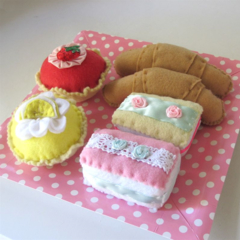 French Food Patisserie Set Felt Play Food