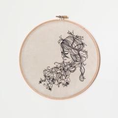 Hidden Beauty Embroidered Hoop Art