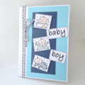 Baby Boy Card - Busy Babies