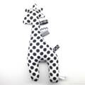 Giraffe Tag Toy Rattle Black and White Spots