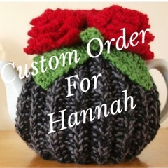 Custom order do Hannah Red Rose Tea Cosy to fit a 6 cup pot