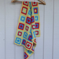 baby blanket   crochet afghan   red, blue, lime green, yellow   baby shower gift