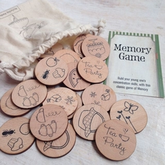 Wooden Memory Matching Game - Tea Time Edition