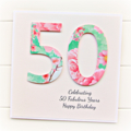 Any Age Personalised card happy birthday watercolour  18 21 30 40 50 60 70 80 90