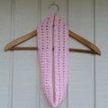crochet infinity scarf | baby toddler girl pink | gift | 3 months - 2+ years