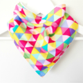 Buy 3 Get 4th Free Bandana Dribble Bib Bright Triangles