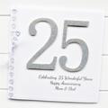 25th Anniversary card   Personalised   Wedding Silver Anniversary   Custom Made