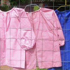 RESERVED for Yelka. Large smock in your choice - custom made to order