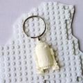 R2D2 BAG TAG - Star Wars inspired bag tag/keyring handmade in chalk white resin