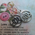 Silver Lotus Flower Earrings