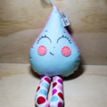 Pastel blue Raindrop rattle