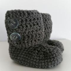 Grey Woolen Little Boots