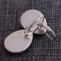 Indigo Plume ~ Teardrop Lever Back Earrings