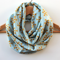 Women's Mustard Arrow Infinity Scarf