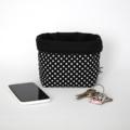 Fabric Storage / Gift Basket - Black Spot