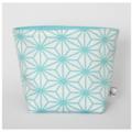 Fabric Storage / Gift Basket - Turquoise & White Geometric