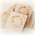 Baby Boy Girl card rainbow buttons blue cloud newborn neutral
