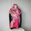 Felted Scarf Wrap Shawl Winter Silk Pink