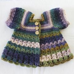 Crocheted Bella Rebekah Cardigan. Size 12-18 months