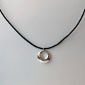 Hill Tribe Silver Pendent on Black Leather