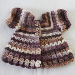 Crocheted Bella Rebekah Cardigan. Size 6-12 months