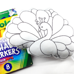 Colour Me Peacock Toy with Washable Markers
