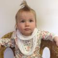 crochet infinity scarf | unisex | white baby shower gift 3 months - 2+ yrs
