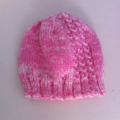 Hand Knit, Toddler, Wool, Beanie Hat, Pink