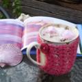 Mug cozy, coffee cosy, cup warmer | watermelon pink  birthday gift, teacher gift