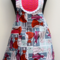 50's Fantasy in Pink - one piece ladies apron
