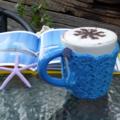 Mug cozy, coffee cosy, cup warmer   royal blue, birthday, teacher gift, Mum, Dad