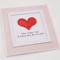 How lucky I am to have you by my side Handmade Card