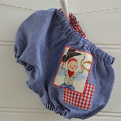 Boys bloomers - blue, red, cowboy, gingham, boys clothes, baby boys gift