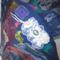 Felted Scarf Wrap Art Silk Blueberry