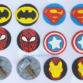 12 Superhero Edible Cupcake Toppers