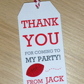 LISTING FOR MICHELLE - Thank you gift tags - soccer