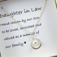 Daughter In Law Gift Hand Chosen by Our Son Gift Boxed Jewellery Thank You Gift