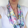 Women's Beautiful Pastels Soft Satin Infinity Scarf or Accessory