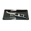 Fused Glass Plate and Cheese or Pate (butter) knife set, also in other colors