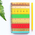 Notebook blank wire bound vintage ruler print cover journal sketch book notepad