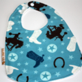 """""""Roundup"""" Flannel Bib Buy 3 bibs get the 4th free and Free Post"""