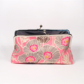 Poppy in pink large clutch purse