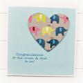 Pregnancy Congratulations Card, New Mum and Dad Card, Baby Bump Card
