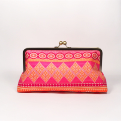 Bliss in tangerine large clutch purse