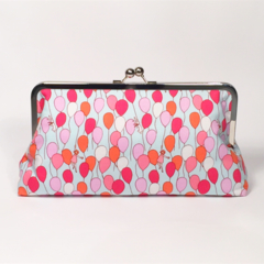 Happy balloons large clutch purse
