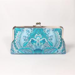 Alchemy in blue large clutch purse