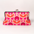 Magenta primrose large clutch purse